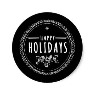 modern_happy_holiday_round_black_christmas_sticker-r9095bf8065834a678d07b5b0bfc259ad_v9waf_8byvr_324